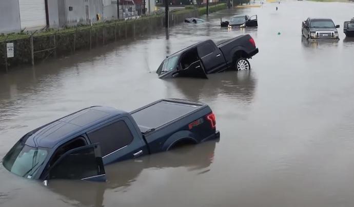 Une terrible inondation s'est abattu sur Menton !