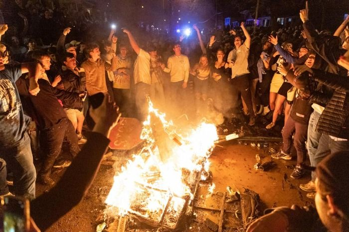 Local Cult Burn Couches After Football Game