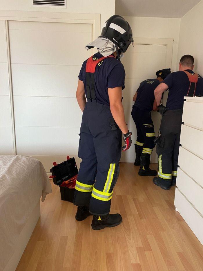 Intervención urgente de los bomberos en Madrid