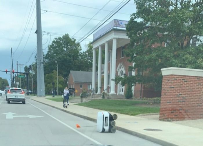Starship Food Delivery Robots Protesting