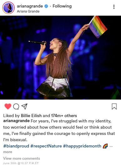 Ariana Grande comes out as BISEXUAL?!